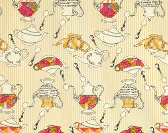 SALE- Art Gallery Fabric - Splendor Collection - Tea Delights Honey - Bari J. -Choose Your Cut -1/2 or Full Yard