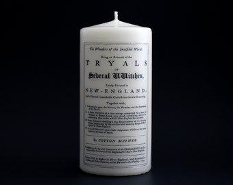 Salem Candle - Pillar Candle - Witchcraft - Salem Witch Trials - Witch Tryals