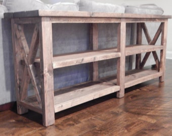 Johnson Rustic X Base Console Table