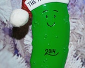 Personalized Pickle Christmas Ornament
