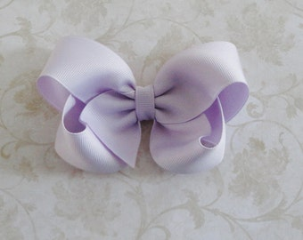 Lavender Twisted Boutique Bow  - 4 inch Bow - Baby Hairbow - Girls Hairbow -Grosgrain Hair Bow
