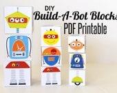 DIY Mix and Match Robot Block PDF Printable