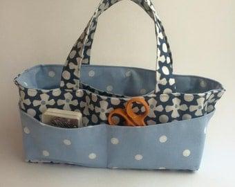 Craft caddy organiser handmade storage basket