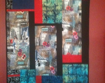 "New York quilt/wall hanging 41""  X 65""...price lowered"