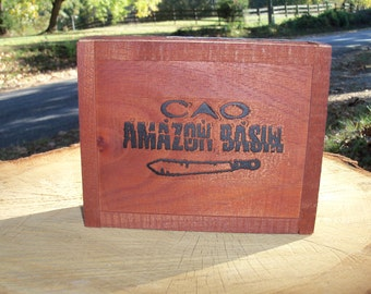 Cigar Box Amazon Basin Special Edition Cool Logo Lift Off Top Wood Chest