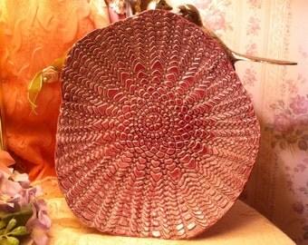 Beautiful Hand Made Purple Plate