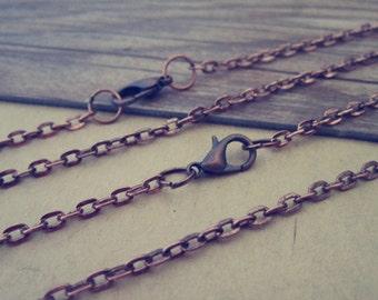 "20pcs  70cm Antique copper red "" o"" shape Link  chain 3mmx4mm"
