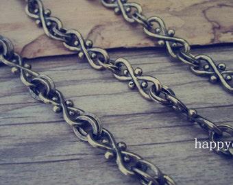 3ft  Antique gold Chain Fancy Tibetan Chain Necklace 11mmx16mm