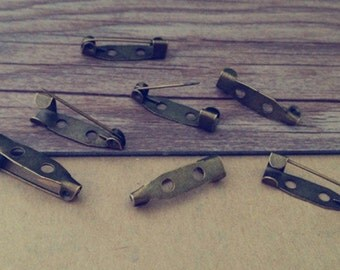 100pcs  Antique bronze Pin Backs accessories 5mmx20mm