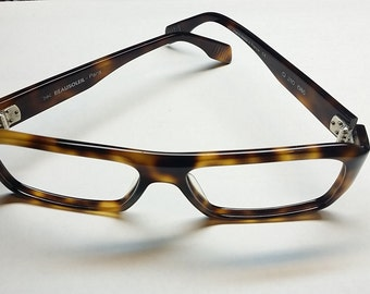 Vintage  Beausoleil Demi Amber Eyeglass Frames - Made in France