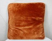 Vintage Orange Square Pillow