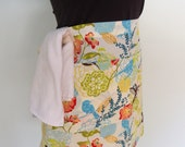 Hummingbird Apron, Waitress Apron, Server Apron, Half Apron with Pockets and Towel Loop