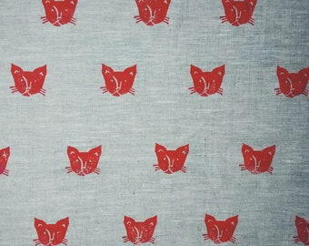 Cat print tea towel