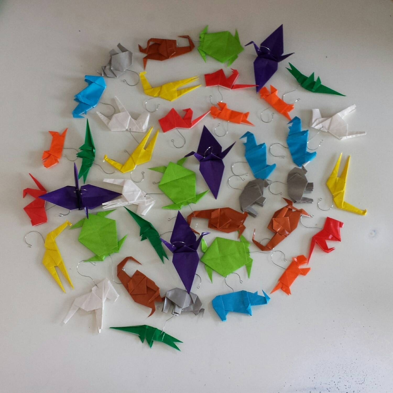 Safari Animal Origami Ornaments Set of 10 or more - photo#31