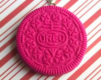 hot pink oreo charm kawaii polymer clay charms miniature food jewelry polymer clay food charm oreo cookie charm oreo necklace colored oreo