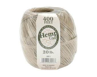 10 Packs of 400 Feet Hemp Twine Spools,  All Natural 20lb Strength