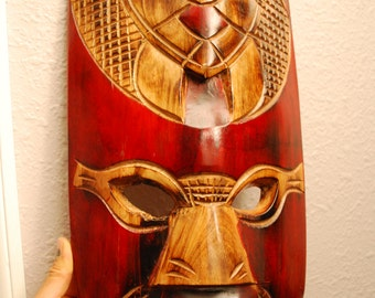HUGE Handmade Tribal Art MASK - INDONESIA