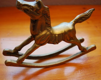 Antique Solid BRASS ROCKING HORSE