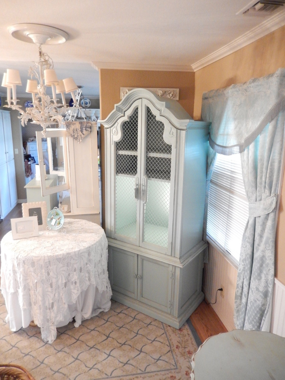 shabby hutch cabinet entertainment center storage cabinet. Black Bedroom Furniture Sets. Home Design Ideas