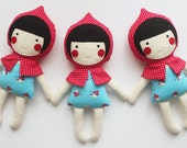 Mini cloth doll - Little Red Riding Hood doll for babies and little girls. Handmade doll. Fabric doll. Gifts for babies and toddlers