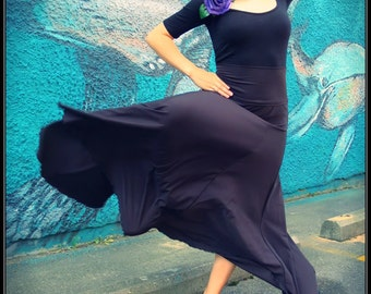 Flamenco belly dance practice performance panel mermaid skirt