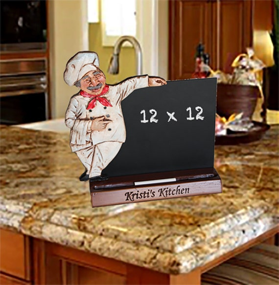 Fat Chef Kitchen Chalkboard Personalized With Your Name