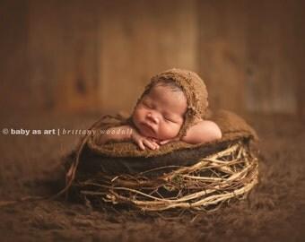 Twiggy Nest, Birds Nest, Photo Prop, Newborn Photography Prop, Newborn Prop, Organic Prop