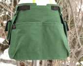 Green Water Resistant Canvas Sectional Apron with Detachable Cargo Pockets