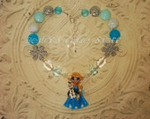FROZEN Inspired Elsa / Olaf Chunky Bead Necklace