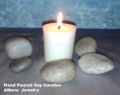 Soy Wax Candles,Hand Poured (3) + (3) free!! Total 6 candles, All purpose, fragrance free, Lead -Free cotton wick By ANena Jewelry
