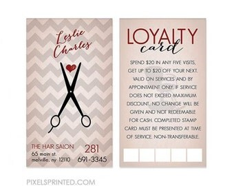 hairstylist loyalty/reward cards - color both sides - FREE UPS ground