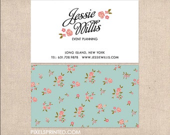 vintage simple DELUXE business cards - thick, color both sides - FREE UPS ground shipping