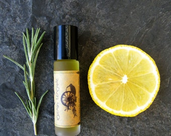 Organic Lip Serum - Rosemary Lemonade - Raw Herbal Oil Infusion for Lips and Body