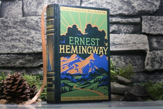 Hollow Book Safe - Ernest Hemingway (LEATHER BOUND) - Magnetic