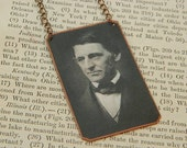 Emerson necklace mixed media jewelry Ralph Waldo Emerson literature jewelry