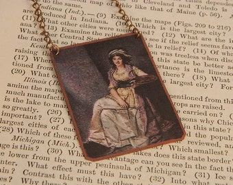 Artist necklace Marguerite Gerard mixed media jewelry Womens History