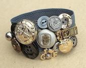 Zipper Bracelet Grey Golf Scottish Silver Gold Buttons Brass