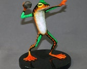 """AWESOME BRONZE """"Football"""" Player Frog Figurine Statue Sculpture Art / Limited Edition / Signed & Numbered"""