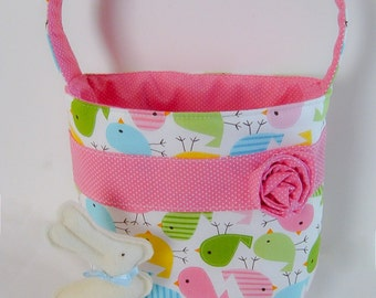 Chick Fabric Easter Basket