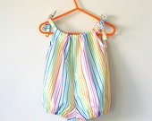 Baby girl romper rainbow playsuit baby shower gift cake smash outfit