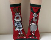 Boot Socks Women Socks Leg Warmer Christmas Socks Boot Socks Ladies Casual Cotton Socks Ankle Socks