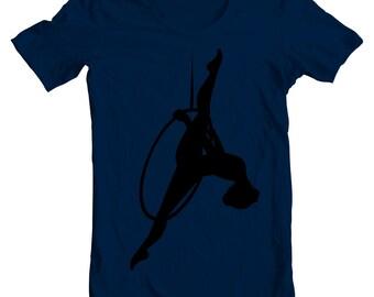 Lyra Hoop - Cute Aerialist and Acrobat Aerial Hoop Circus Tee Shirt or Hoodie