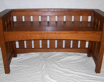 Arts & Crafts Large Hall Bench Free Shipping