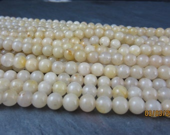 Round quartz beads,Full Strand, gemstone  Beads , 8mm -15 inch   S5045