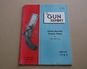 Vintage 1962 The Gun Report Magazine, Double Barrled Flintlock Pistols