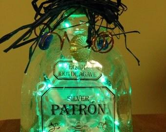 Lighted Bottle Patron No Cafe