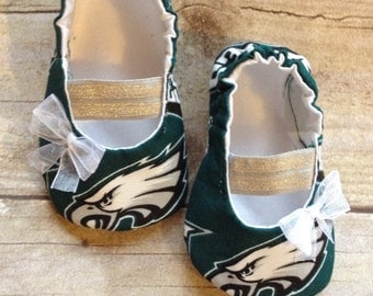 Philadelphia Eagles Inspired MaryJane Baby Booties