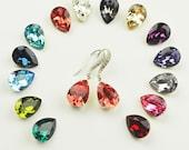 Swarovski Crystal Earrings - Swarovski Teardrop Earrings - Choose Your Color - Crystal Bridesmaid Earrings