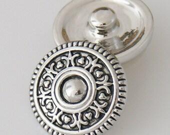 1 PC 18MM Fleur De Lis Silver Candy Snap Charm KB5404 Cc0153
