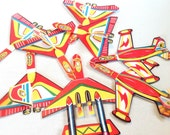 Vintage Toys 1940s Party Favors, Litho Airplanes, Horse Racing Games, Prizes, Japan Hong Kong, Party Decor